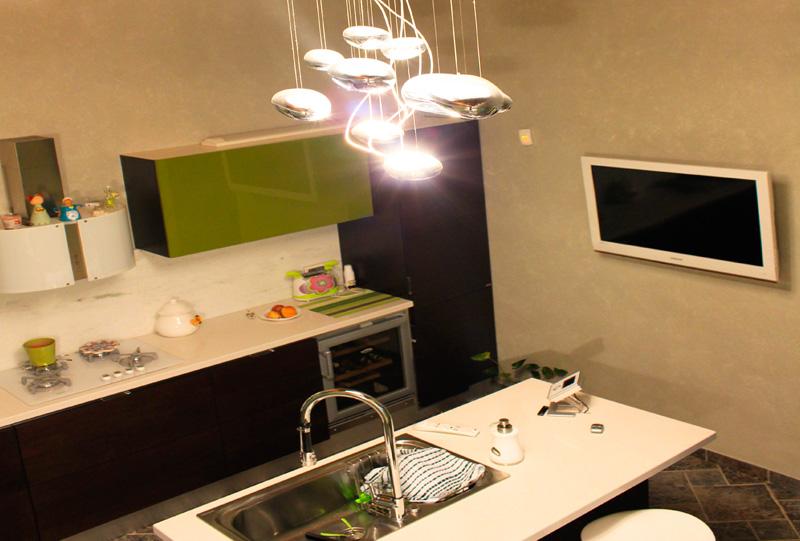 Abitazione Privata, Illuminazione Cucina - studio luce lampadari paternò