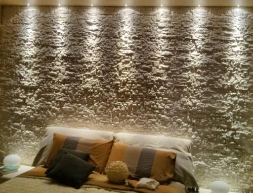 Abitazione Privata, illuminazione LED su pietra