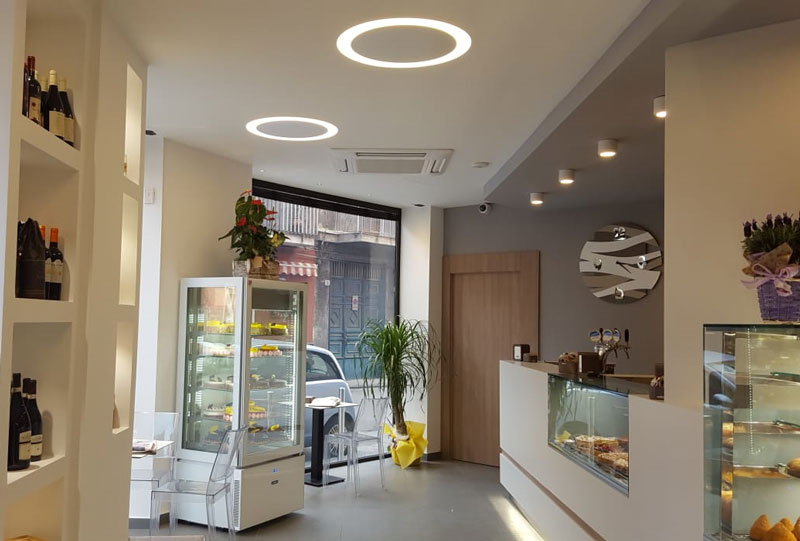 Bar progettazione illuminotecnica studio luce lampadari paternò
