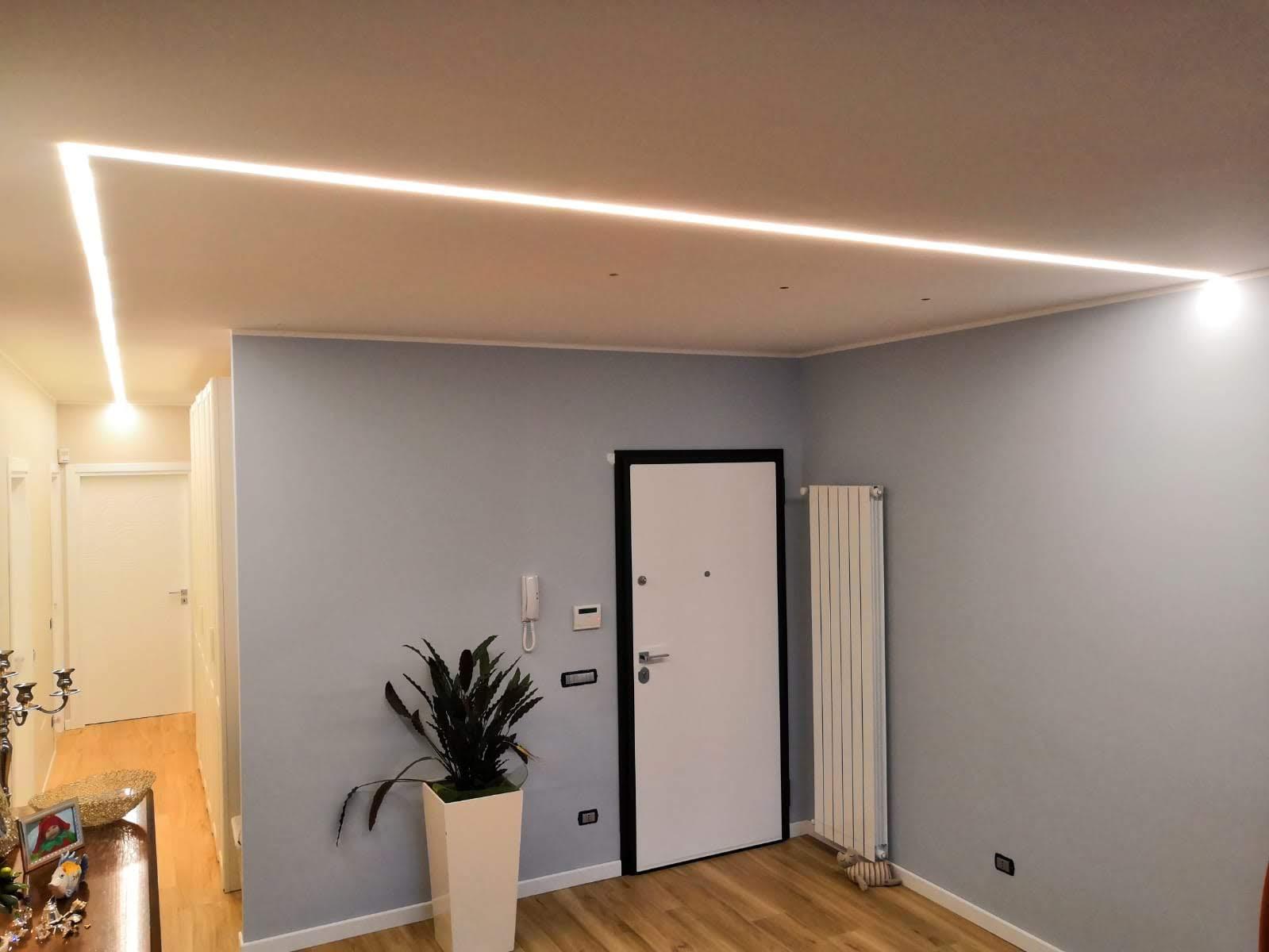 Lampade Sopra Tavolo Da Pranzo illuminare un living, abitazione privata - studio luce
